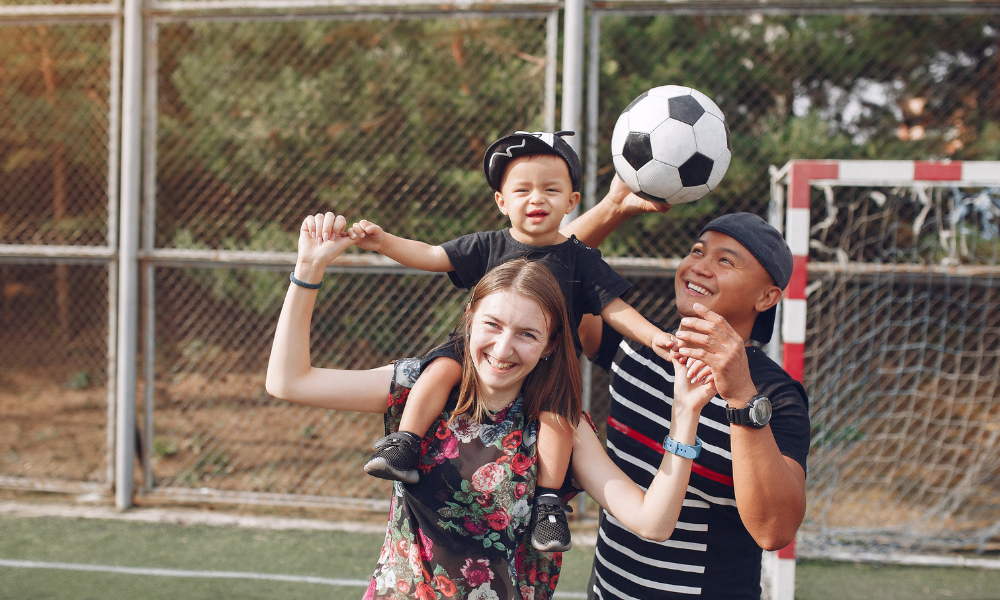 family-soccer-routine